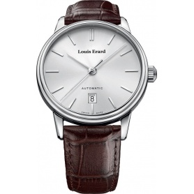 Louis Erard Heritage Automatic Leather Silver Watch - 69266AA11