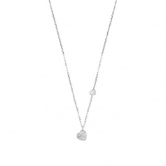 Salvini Necklace Be Happy Chic Heart Pendant With Brilliant - 20060187