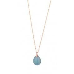 Necklace Tatiana Fabergè Olga in silver rosé and celestial stone