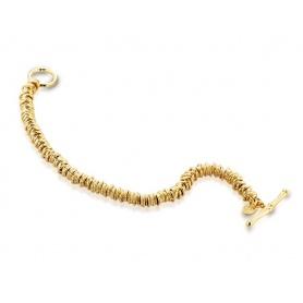 Bracciale Tatiana Fabergè con cerchietti in argento dorato