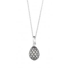 Egg necklace Tatiana Fabergè Emperor interlacing pavè - 13907S
