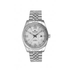 Orologio donna Pryngeps in acciaio modello DateJust bianco - A822