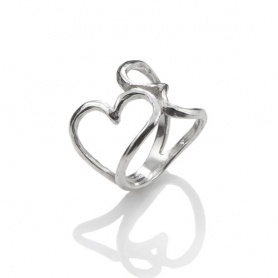 Giovanni Raspini Double heart band ring collection air hearts