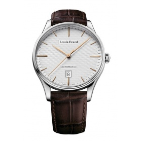 Louis Erard Heritage automatic watch leather steel 69287AA31