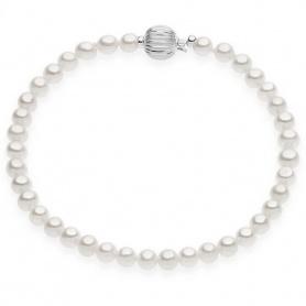 Comete Gioielli Armband, Perlen Muster mit Weißgold BRQ261B