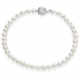 Comete Gioielli bracelet, Pearls patterns with white gold BRQ261B