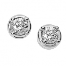 Comete Gioielli Earrings Light Points in White and Brilliant Gold - ORB854