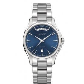 Jazzmaster automatic watch Day Date blue dial H32505141