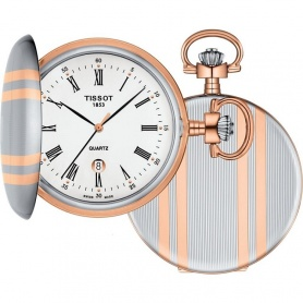 Tissot Savonette pocket watch in steel and rose' - T8624102901300