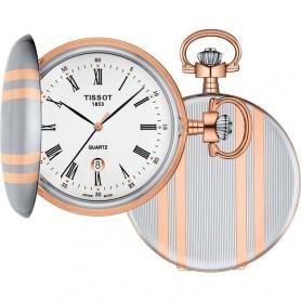 Tissot Savonette Taschenuhr aus Stahl und Rose '- T8624102901300