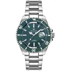 Pryngeps Mediterrane Submariner Uhr, grüne Zwinge