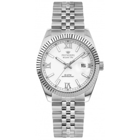 Pryngeps man watch in steel DateJust model white - A821