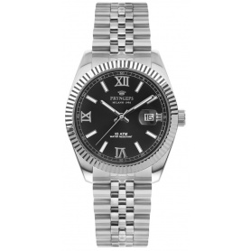 Pryngeps man watch in steel DateJust model, black - A821