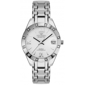 Women's watch Pryngeps Luxury white dial - A1039