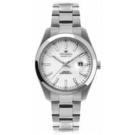 Pryngeps Uhr aus Stahl DateJust Modell weißes Zifferblatt A1034