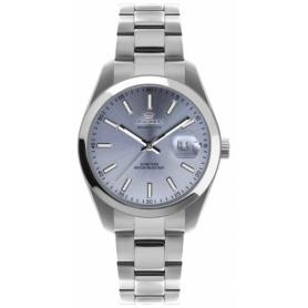 Pryngeps Uhr aus Stahl DateJust Modell, blaues Zifferblatt A1034