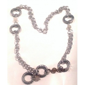 Collana in argento e quarzi citrini - GR7321