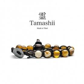 Bracciale Tamashii Agata Gialla Striata un giro - BHS900-155