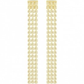 Swarovski Fit Long pendants earrings, golden  - 5364807