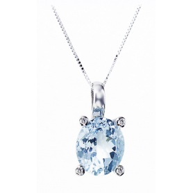 With Topaz gold necklace-3312900