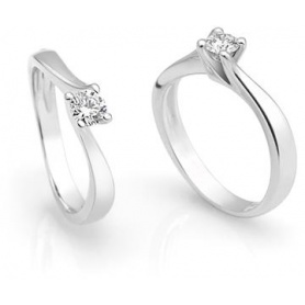 Giorgio Visconti Solitaire Ring mit Diamante ct.0,20 - AB12649B