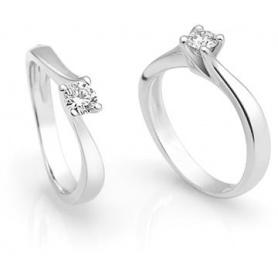 Giorgio Visconti Solitaire Ring with Diamante ct0.20 - AB12649B
