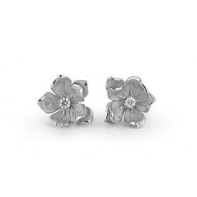 Orecchini Annamaria Cammilli fiore Dorothy oro bianco GOR1830W