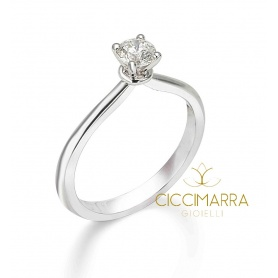 Mimì solitaire ring with gold circlet with 0.35G diamond