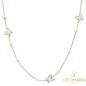 Mimì FreeVola Halskette in Roségold, Perlen, Perlmutt und Diamant