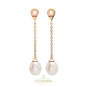 Pendenti per orecchini Mimì FreeVola in oro rosa e perle