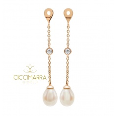 Pendants for Mimì FreeVola earrings in rose gold, pearls and diamonds