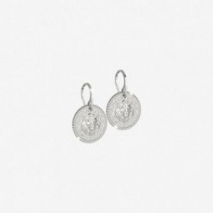 Rebecca earrings, Lion collection, in silver