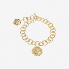 Rebecca Lion collection, gold -plated silver chain bracelet