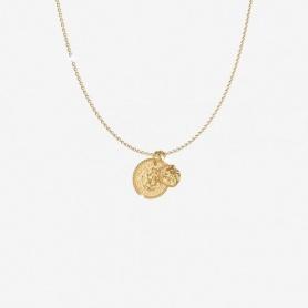 Rebecca Lion Kollektion, Anhänger Halskette, goldene Münze