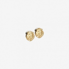 Rebecca Lion collection, golden silver lobe earrings - SLIOAA04