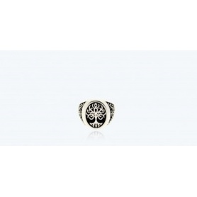 Tree of Life Ring, chevalier, small in silver - 1A-ADV
