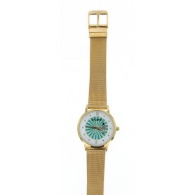 Le Carose watch, Porto wild,  Milanese knit strap golden-plated - SILM02