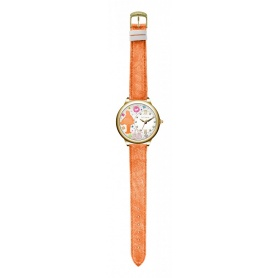 Le Carose Watch , Workers, orange with swarovski