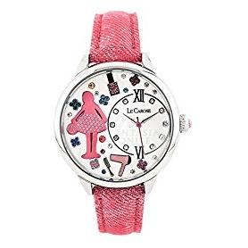 Le Carose Watch, Arbeiter, rosa mit Swarovski
