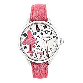 Le Carose Watch , Workers, pink with swarovski