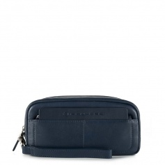 Blue leather pochette Piquadro Iguazù new - AC3971S88 / BLU