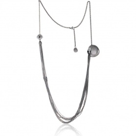 Breil Bloom necklace, woman, heart, long steel - TJ0805
