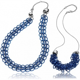 Collanna Breil Rockmantic donna a catena blu - TJ1359