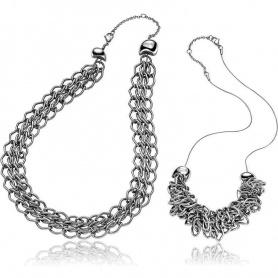 Collanna Breil Rockmantic donna a catena silver - TJ1360