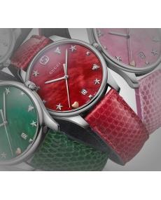 Orologio Gucci G-Timeless Quarzo Slim rosso madreperla- YA126584
