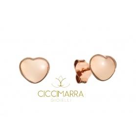 Orecchini a cuore in oro rosa by Civita Queriot - O17O02LOVE