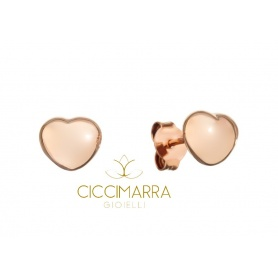 Rose gold heart earrings by Civita Queriot - O17O02LOVE