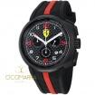 Scuderia Ferrari Fast Lap watch in black steel and rubber