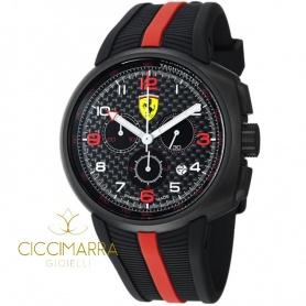 Orologio Scuderia Ferrari Fast Lap in acciaio nero e caucciù