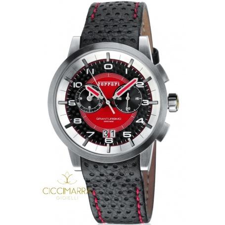 Scuderia Ferrari Granturismo watch black and red in steel and leather
